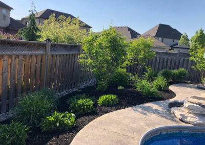 Poolside Garden Image | Green Ninja Lawn Care Service London Ontario